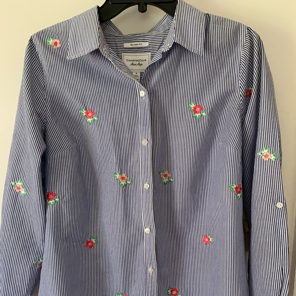 Charter Club Tops - Stripped shirt